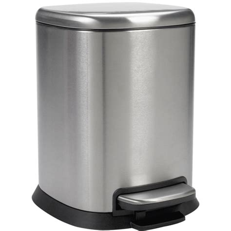 stainless steel bathroom trash can oxo small step trash can stainless steel in small trash cans