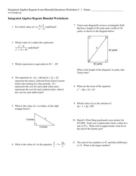 Integrated Math 2 Worksheets by Integrated Math 1 Worksheets Answers Fractions Worksheet