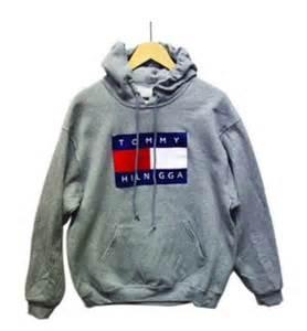 Gray Duvet Covers Sweater Tommy Hilnigga Sweatshirt Grey Gray Sweatshirt