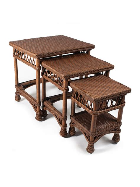 harbor wicker nesting tables cottage home 174