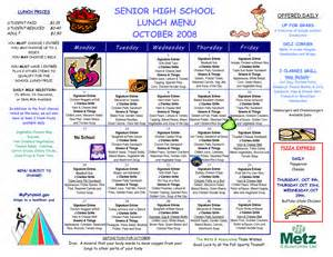 school menu templates high school cafeteria menu ideas pictures to pin on