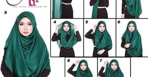 tutorial hijab buat orang berkacamata tudung selendang cara ii buat tudung shawl mudah