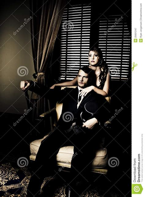Opulent Wealth Filthy Rich Man And Woman Royalty Free Stock Photography
