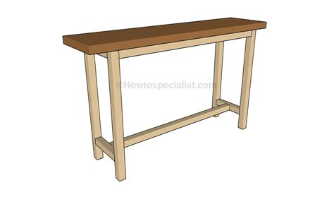 console table plans howtospecialist how to build step