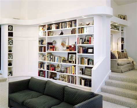 custom modern bookcases and bar by design