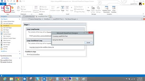 sharepoint designer 2013 workflow loop usama wahab khan create sharepoint 2013 workflow loop by