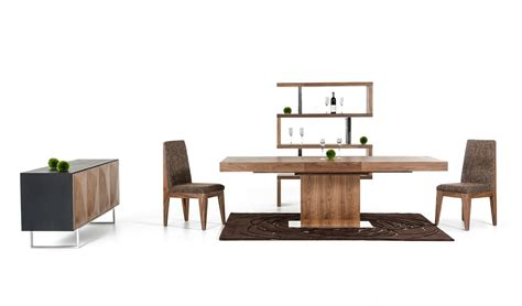 durham modern walnut extendable dining table