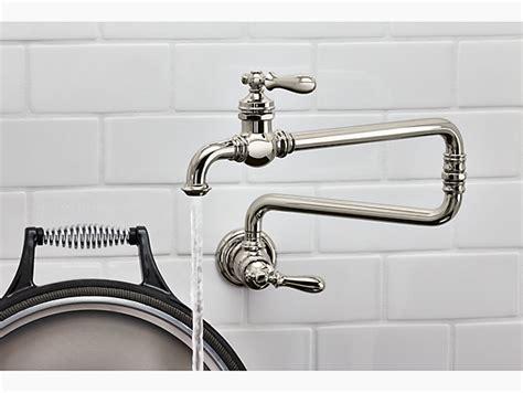 wall mount pot filler kitchen faucet artifacts wall mount pot filler faucet k 99270 kohler