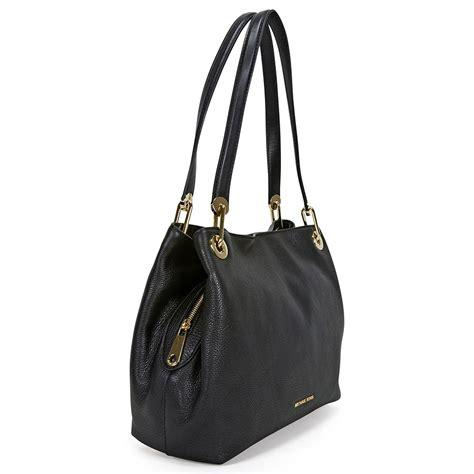 Mk Handbag Set 2in1 001 michael kors large leather shoulder bag black michael kors handbags handbags jomashop