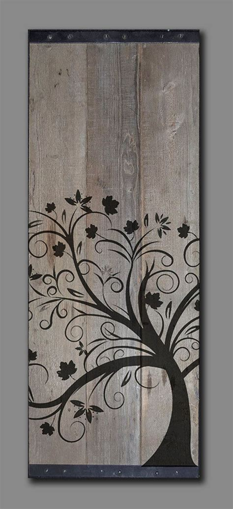 tree painted on wood ideas affordable and amazing easy wall ideas homescorner