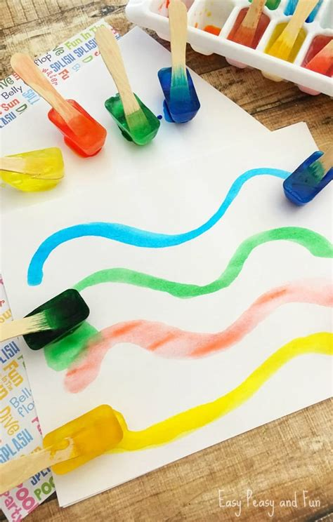 craft activity for painting with make your own paint easy peasy