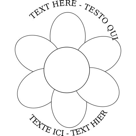 6 Petal Flower Template by 6 Petal Flower Template Cliparts Co