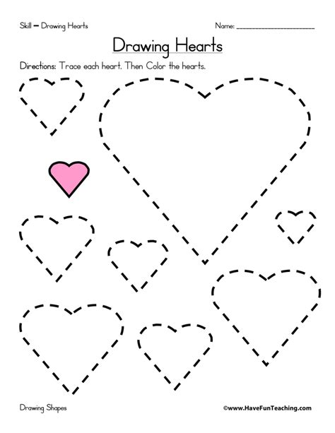 heart pattern worksheet shapes worksheets page 3 of 4 have fun teaching