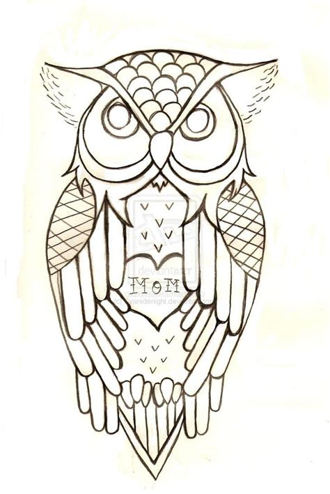 outline tattoo next go back images traditional owl outline