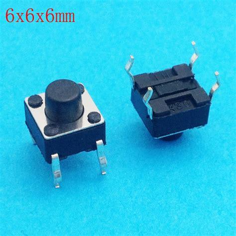 Tact Switch 6x6x6 Mm Saklar Kecil Micro On Tactile 4 Pin 6x6x6 dip tactile tact mini push button switch micro switch momentary 6 6 6mm in switches from