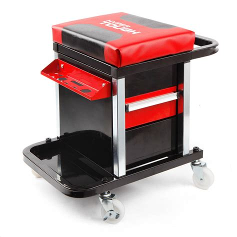 mechanics roller seat with drawers mechanic rolling creeper 2 drawer seat tool box chair