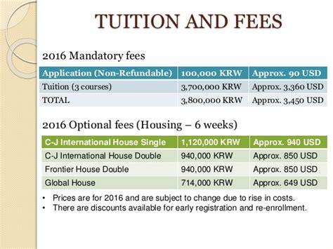 Korea Mba Tuition Fee by Korea Isc Presentation