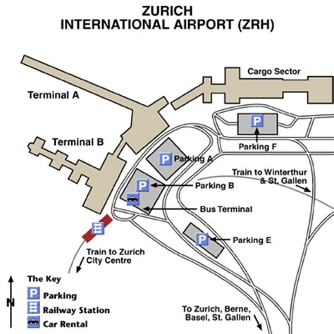 Zurich Airport Layout Map | zurich airport airport maps maps and directions to