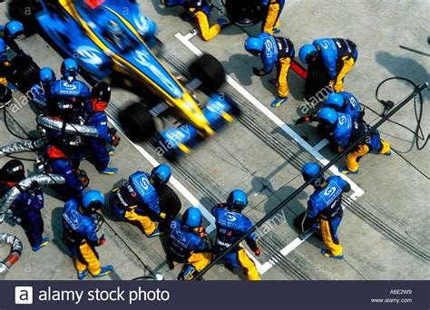 renault f1 team pit stop stock photo royalty free image