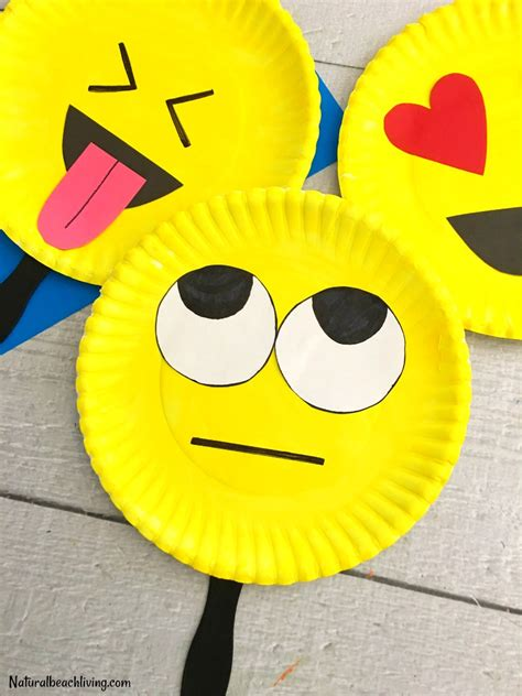 How To Make Paper Plate Crafts - emoji paper plate craft emotions theme
