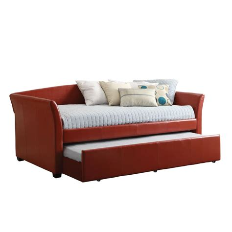 day bed twin venetian worldwide delmar twin size day bed in red w twin
