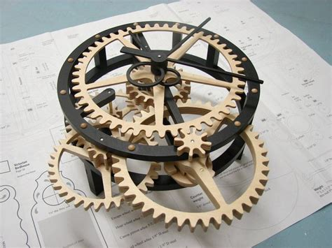 printable clock gears free wooden clock plans dxf pdf cnc pinterest