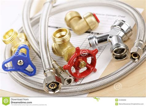 Plumbing Repair Supplies Plumbing Parts Stock Photography Image 24493292