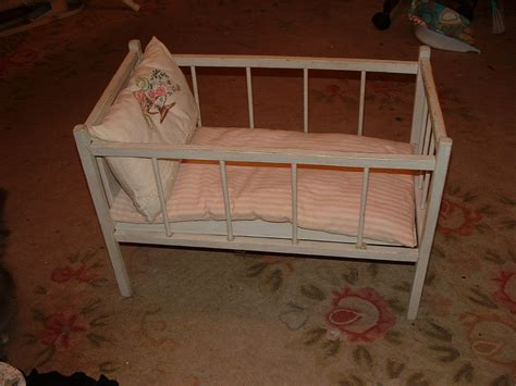Vintage Baby Crib by Antique Doll Crib Baby Doll Bed 1920s With Mattress Pillow