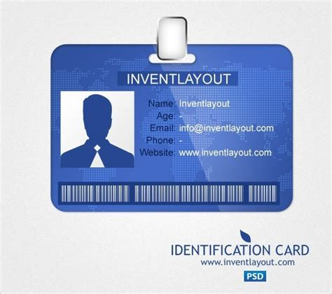 8 id card template word itinerary template sample