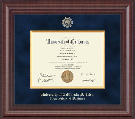 Mba Courses For Diploma Holders by Of California Berkeley Presidential Masterpiece