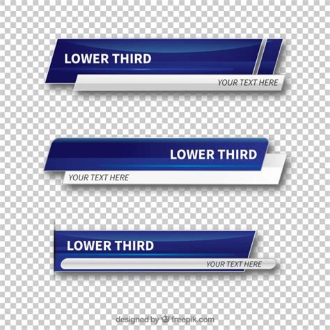 Lower Third Vectors Photos And Psd Files Free Download Lower Third Templates Photoshop