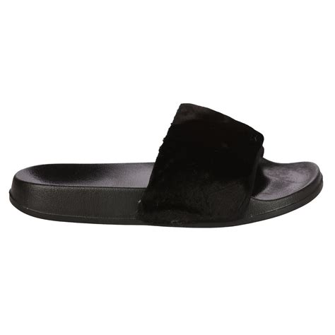 womens slip on slippers womens sliders slip on faux fur shoes farrah rubber mules