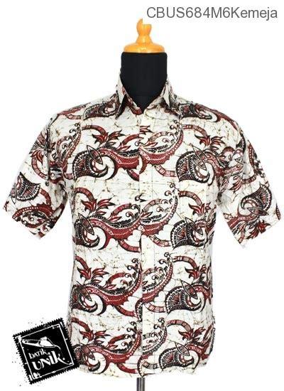 baju batik sarimbit kemeja pekalongan motif sogan putih