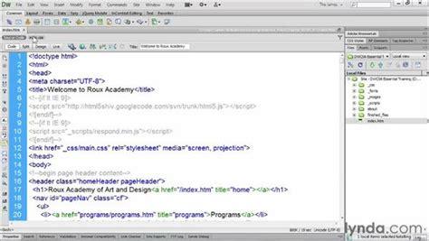 format html code in dreamweaver formatting source code