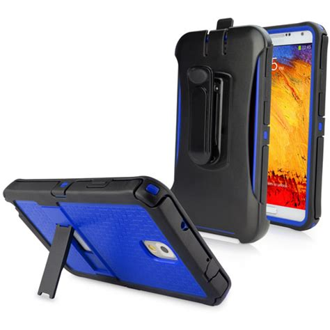 Stand Holster Belt Clip Samsung Note 3 Dual Armor Future Hybird dual max holster galaxy note 3 polycarbonate