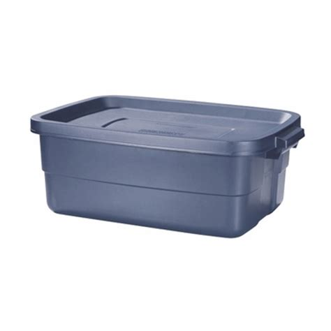 blue rubbermaid small blue 10 gal roughneck tote by rubbermaid