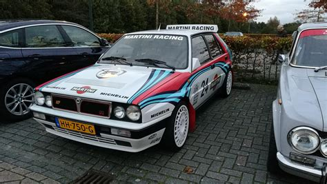 martini livery lancia lancia delta integrale evo 2 with the martini rally