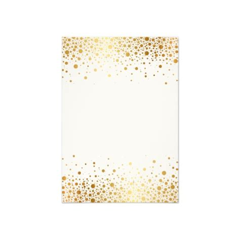 faux foil confetti gold and white vertical rsvp card
