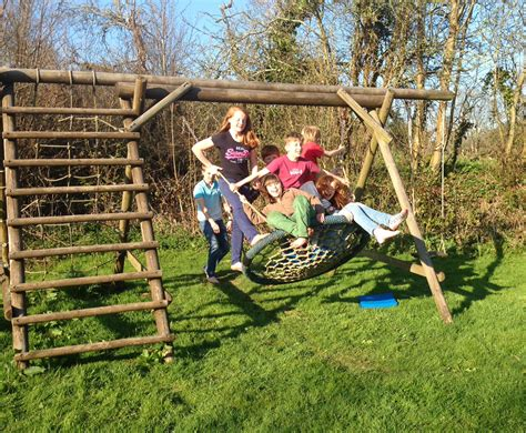 family swing family basket swing with ladder and net and double