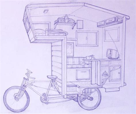cer bike adds a mobile home to your pedal powered ride