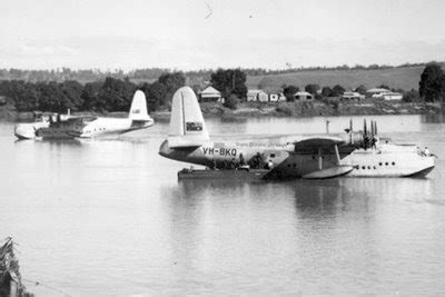 flying boat history new england s history sunderland flying boats clarence river