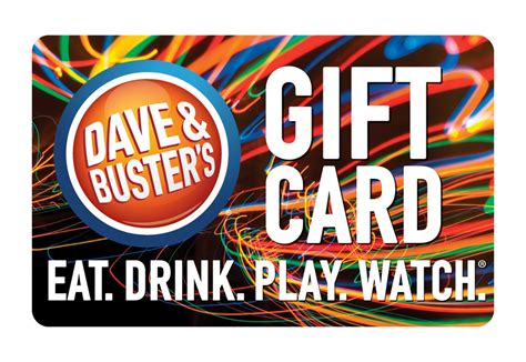 Where To Buy A Dave And Busters Gift Card - dave buster s gift card