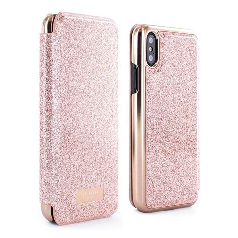Iphone X Mirror ted baker peri mirror folio for iphone x gold