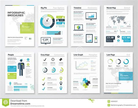 data visualization templates infographic brochures for business data visualization