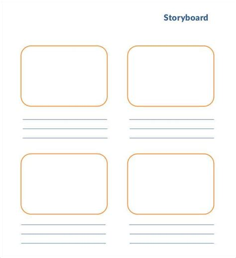 storyboard template 77 free word pdf ppt psd format