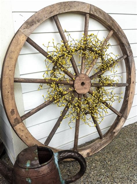 wagon wheel home decor old wooden wagon wheel antique store ideas pinterest