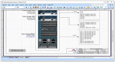 rack layout excel network diagram templates cisco networking center