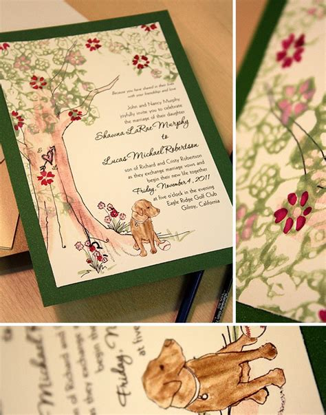Hochzeitseinladung Hund by With Baseball Painted Wedding Invitationmomental