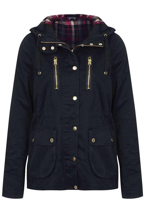 07 Farisia Jacket Light lyst topshop hooded lightweight jacket in blue