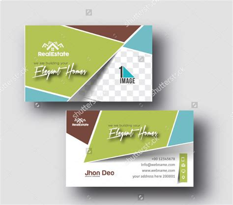 23 real estate business card templates free premium